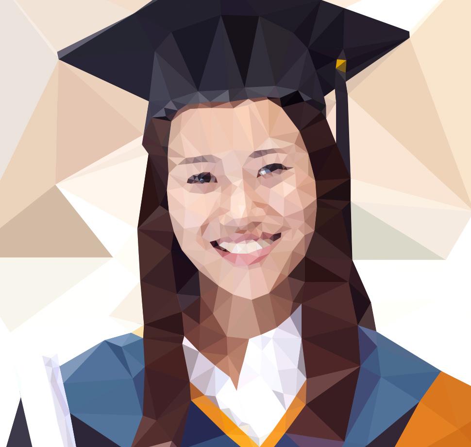 Asian female graduate